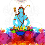 Lord Rama for Dussehra and Diwali celebration. Stock Photo