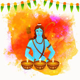 Lord Rama for Happy Dussehra and Diwali celebration. Royalty Free Stock Photo