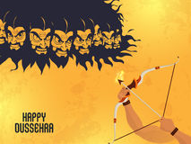 Lord Rama killing Ravana for Dussehra celebration. Royalty Free Stock Photography