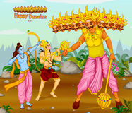 Lord Rama killing Ravana during Dussehra festival of India Royalty Free Stock Image
