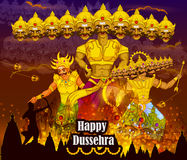 Lord Rama killing Ravana during Dussehra festival of India Royalty Free Stock Images