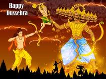 Lord Rama killing Ravana during Dussehra festival of India Royalty Free Stock Photos