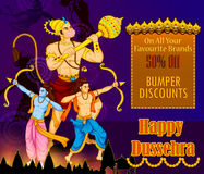 Lord Rama killing Ravana during Dussehra festival of India Royalty Free Stock Photography