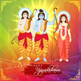 Lord Rama, Laxman and Goddess Sita for Dussehra. Royalty Free Stock Photography