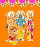 Lord Rama, Laxmana, Sita with Hanuman Royalty Free Stock Photography