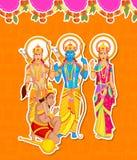 Lord Rama, Laxmana, Sita with Hanuman Royalty Free Stock Photography