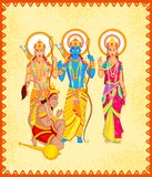 Lord Rama, Laxmana, Sita with Hanuman Stock Photos