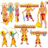Lord Rama, Laxmana, Sita with Hanuman Stock Image
