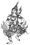 Lord Rama Ramayana stripes Thailand Royalty Free Stock Images