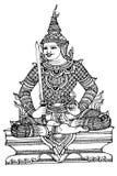Lord Rama Ramayana stripes Thailand Royalty Free Stock Photos