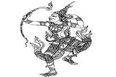 Lord Rama Ramayana stripes Thailand Royalty Free Stock Image