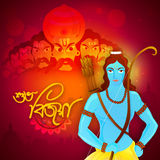 Lord Rama and Ravana for Happy Dussehra. Stock Photo