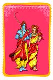 Lord Rama and Sita Royalty Free Stock Image