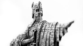 Lord of the Rings figurine showing Isildur the Argonath, king of Gondor Stock Image