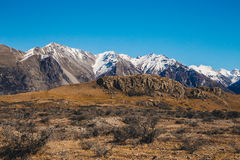 Lord of the rings,Mount Sunday at The Rangitata River Hakatere C Royalty Free Stock Image