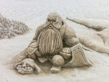 Lord of the Rings sand sculpture Stock Images