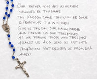 Lords prayer Royalty Free Stock Photo