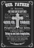 The Lord's Prayer. Literal design. vector illustration.