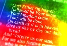 The Lord's Prayer - Our Father in heaven Royalty Free Stock Photo