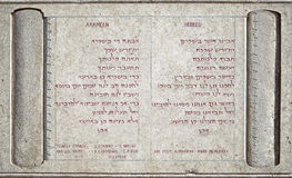 Lord's Prayer in the Pater Noster Chapel Royalty Free Stock Image