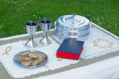Lord`s supper elements Stock Photography