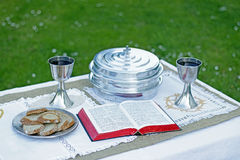 Lord`s supper elements Stock Photos