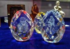 Lord Sai Baba 3d Crystal Balls. royalty free stock photos