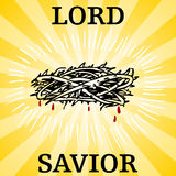 Lord Savior Thorn Crown Stock Photo