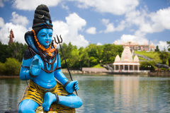 Lord Shiva. Shiva statue and Hindu temple at Grand Bassin lake, Mauritius Royalty Free Stock Photography