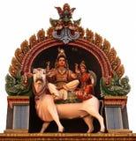Lord Shiva con la sua moglie Parvati Fotografia Stock
