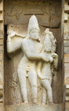 Lord Shiva and Devi Parvati statue. Stock Photo