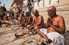 Lord Shiva devotees praying Stock Images