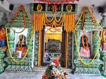 Lord Shiva in een tempel tijdens Shivaratri royalty-vrije stock afbeelding