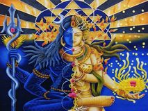 Lord Shiva en Parvati royalty-vrije illustratie