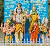 Lord Shiva family at Pilivalam shrine. Royalty Free Stock Photography