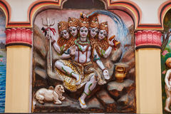 Lord Shiva. The five headed Shiva, India Stock Photos