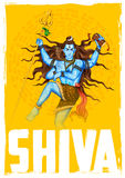Lord Shiva Indian God des Hindus Lizenzfreie Stockbilder