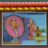 Lord Shiva kills the elephant. Royalty Free Stock Photos