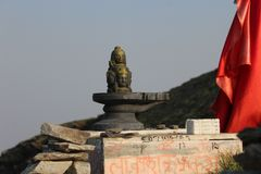 LORD SHIVA NO PICO do hIMALAY fotografia de stock