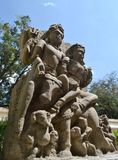 Ancient Sclupture of Lord Shiva & Parvati Madhya P Royalty Free Stock Photography
