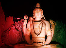 Lord Shiva's Statue at Murugeshpalya,Bangalore,India Royalty Free Stock Image