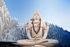 Lord Shiva Statue Royalty-vrije Stock Foto's