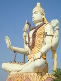 Lord Shiva Statue em Gujarat fotografia de stock royalty free
