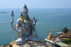 Lord Shiva Statue in Murudeshwar, India. Stock Afbeelding