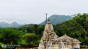 Lord shiva temple. Beautiful shot taken on a beautiful rainy day with a 507 year old temple of Lord shiva situated in aravali hills Royalty Free Stock Photography