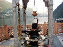 Lord Shiva Temple at Naini Lake. Picture of Lord Shiva temple at Naini lake, Nainital Stock Photography