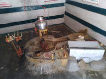 The Lord Shiva temple - Shivlinga royalty free stock images