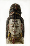 Lord Shiva, a traditional Nepalese mask. Lord Shiva, a traditional Nepalese wall mask of wood. A fine example of ethnic art stock photo