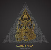 Lord Shiva on triangle background shape Stock Images