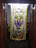 Lord shree saatibhavaani maata idol in goa. Shree satibhavaani  Idol in temple decorated during festival in goa stock photo